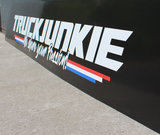 """MUDFLAP PLASTIC- TRUCKJUNKIE """"WE SHARE YOUR PASSION!""""_"""