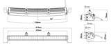 "LEDSON Apollo C LED - 105W LED BAR - 21"" (53 cm) - CURVED_"
