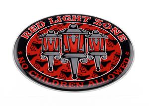 RED LIGHT ZONE - 3D DELUXE FULL PRINT STICKER