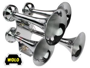 WOLO QUADRAPHONIC EXPRESS TRAINHORN - SUPER LOUD! 24V