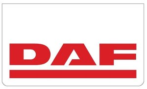MUDFLAP FRONT BUMPER WHITE - PRINT DAF RED