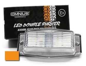 CLEAR LENS/ORANGE - LED DOUBLE BURNER - OMNIUS