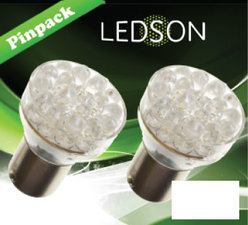 LED-LAMP XENON LOOK - 24 DIODE  P21W  BA15s