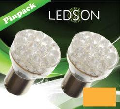 LED-LAMP ORANGE - 24 DIODE  P21W  BA15s