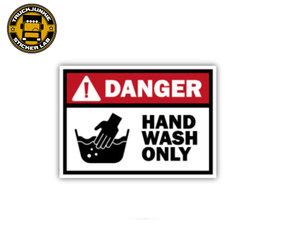 DANGER HAND WASH ONLY - FULL PRINT STICKER