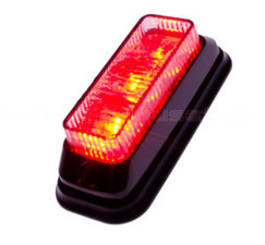 FLASHER 3 LED - TILTED - RED
