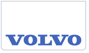 MUDFLAP FRONT BUMPER WHITE - PRINT VOLVO BLUE