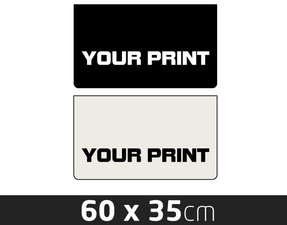 MUDFLAP SMALL- OWN PRINTING - 60 X 35CM
