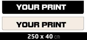 MUDFLAP LARGE - OWN PRINTING - 250 X 40 CM