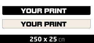 MUDFLAP LARGE - SHORT  - OWN PRINTING - 250 X 25 CM