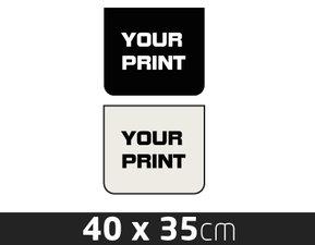 MUDFLAP- TRAILER  - OWN PRINTING - 40 X 35CM