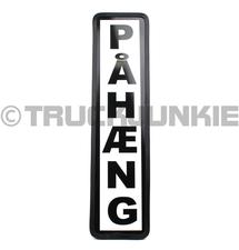 PAHAENG SIGN BLACK - 40X10CM