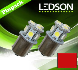 RED - R5W - BA15s - 8 SMD - 320