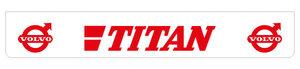 TITAN 250X40 MUDFLAP - REARBUMPER LONG - RED!!