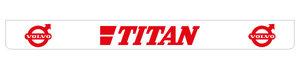 TITAN 250X25 MUDFLAP - REARBUMPER LONG - RED!!