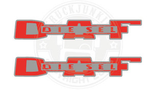 DAF DIESEL OLD - STICKER - 2-TONE