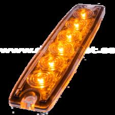 ULTRA THIN FLASHER - 6 LED - ORANGE