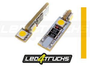 ORANGE - 4xSMD LED 24V - W3W / W5W