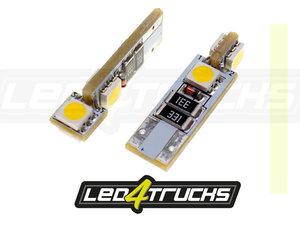 WARM WHITE - 4xSMD LED 24V - W3W / W5W