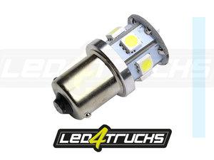 XENON WHITE - 9xSMD LED 10-30V - BA15s