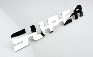 SUPER EMBLEM - POLISHED STAINLESS STEEL