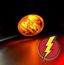 LED FLASH LIGHT - HIDE AWAY - AXITECH UR03  ECE R65 - ORANGE
